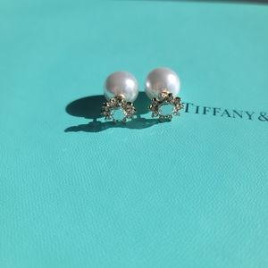 Kate Spade Faux Pearl Back Floral Stud